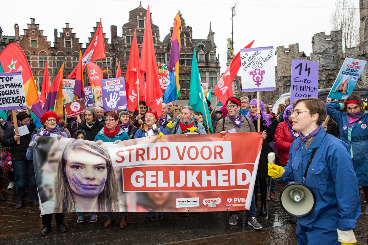 8 maart is de internationale dag voor de strijd voor vrouwenrechten. Deze foto werd vorig jaar genomen door Dieter Boone.