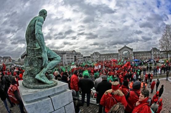 Charleroi. (Foto Solidair, Salim Hellalet)