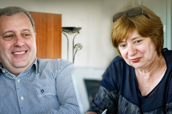Michel Meyer en Chris Reniers, respectievelijk voorzitter en vicevoorzitter van de ACOD. (Foto Solidair, Salim Hellalet)
