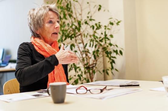 Diane Janssen, arbeidsbegeleider bij het schoonmaakproject van Levanto. (Foto Solidair, Karina Brys)