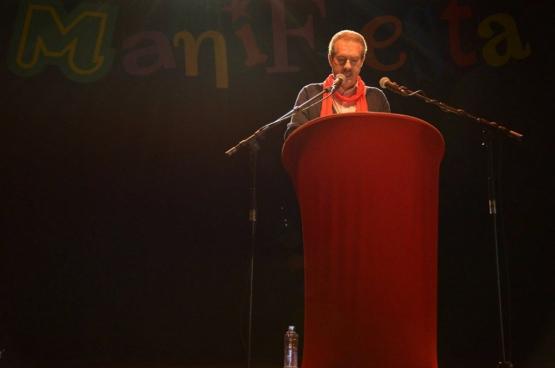 Alain Detemmerman (co-voorzitter ABVV-FGTB HORVAL) (Foto Solidair, Aïcha Attaleb)