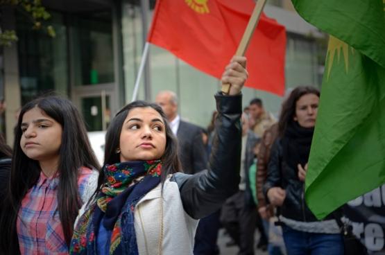 Solidariteitsactie op zondag 11 oktober in Brussel. (Foto Solidair, Vinciane Convens)