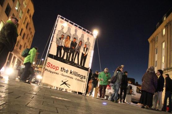 Het platform Stop the Killings wil dit jaar zijn steun betuigen aan milieuactivisten uit het Zuiden. (Foto Solidair, Martine Raeymaekers)
