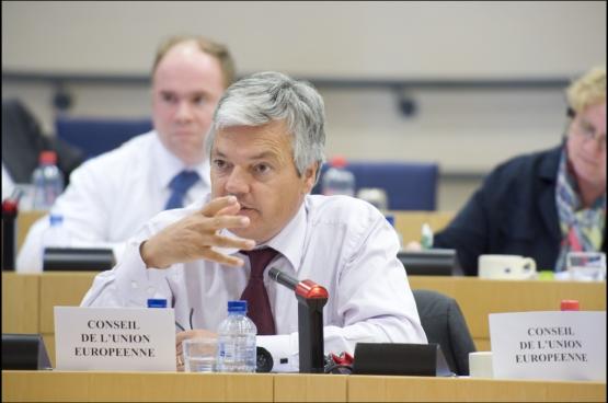 Voormalig minister van Financiën Didier Reynders. (Foto European Parliament - Pietro Naj-Oleari / Flickr)
