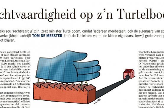 De opinie van Tom De Meester in De Standaard