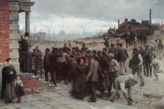 Der Streik (De staking), Robert Koehler, 1886.