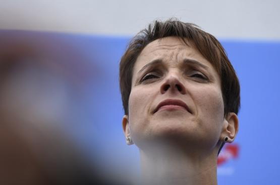 Frauke Petry, de voorzitster van het rechtspopulistische AfD.