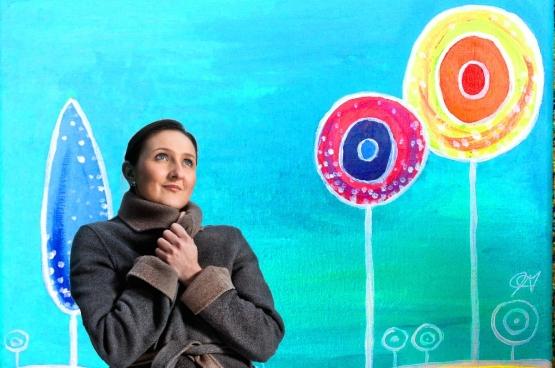 Gwendolyn Rutten, voorzitster van Open Vld, in Lollipopland. (Montage Solidair)