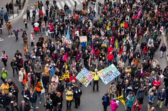 Parijs, 9 april 2016. Betoging tegen de arbeidsmarkthervorming in Frankrijk. (Foto copivolta / Flickr)