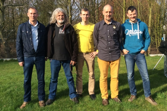 Marc, Erwin, Robbie, Stefan en Julian. Het ABVV-team van chemiebedrijf Vynova in Tessenderlo.