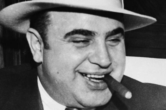 In België anno 2016 zou Al Capone geen dag in de gevangenis zitten.(Foto www.history.com)