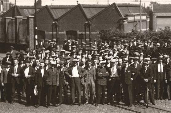 Gent, juni 1936. Het hele land ligt plat. (Foto Amsab-Instituut voor Sociale Geschiedenis Gent)