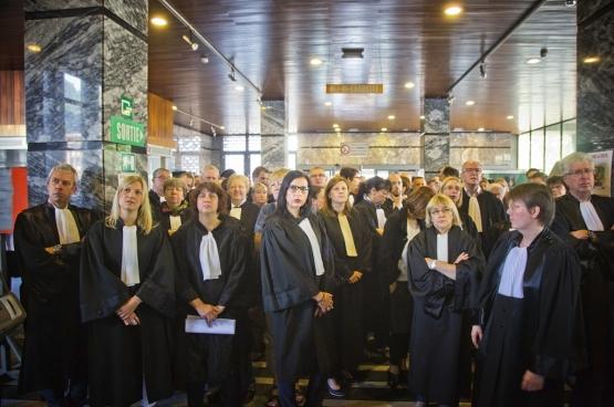 Actie van de magistraten in Charleroi. (Foto Solidair, Salim Hellalet)