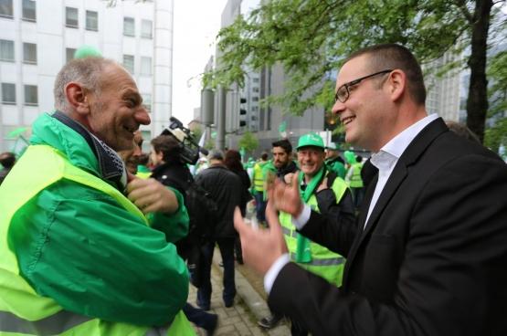 Charles Michel probeert met goednnieuwsshow de slechte peilingen te counteren. (Foto Solidair, Salim Hellalet)