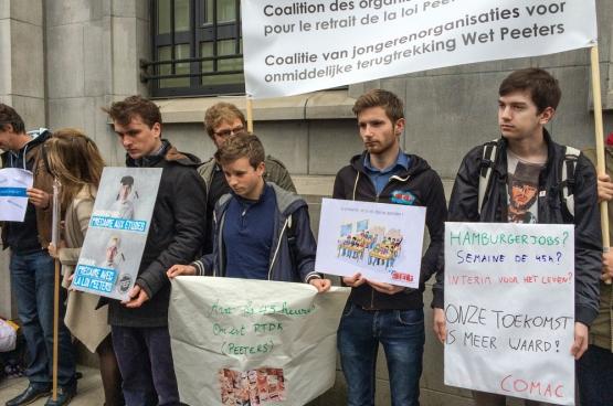 Actie in Brussel op 20 mei 2016. (Foto Solidair, han Soete)