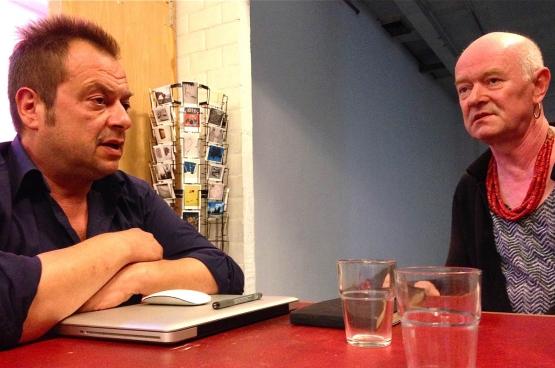 Joris Van der Borght, zakelijk leider en voorzitter en Laura van, artistiek leider, van kunstenhuis Croxhapox in Gent. (Foto Solidair, Dirk Tuypens)