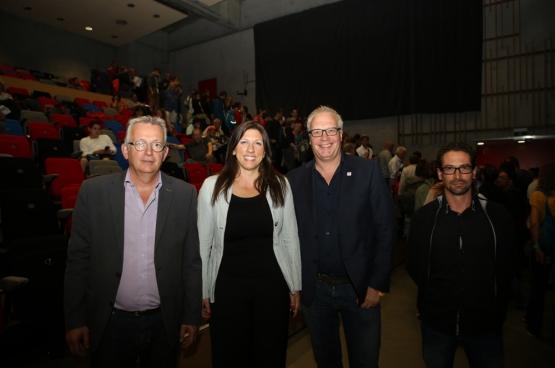 Pierre Laurent, Zoe Konstantopoulou, Peter Mertens en Ismael Gonzalez. (Foto Solidair, Dieter Boone)