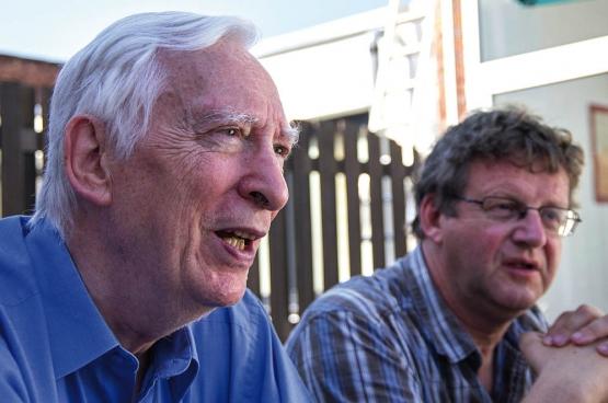 Johan Hoebeke en Dirk Van Duppen. (Foto Solidair, han Soete)