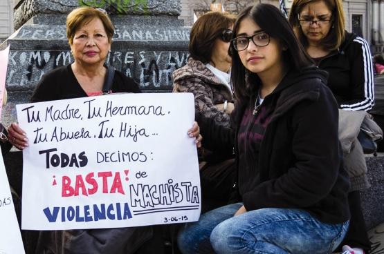 """""""Je moeder, zus, grootmoeder, dochter ... Ze zeggen ons allemaal: Gedaan met het machistisch geweld"""" (Foto Flickr/Colectivo La Luz)"""
