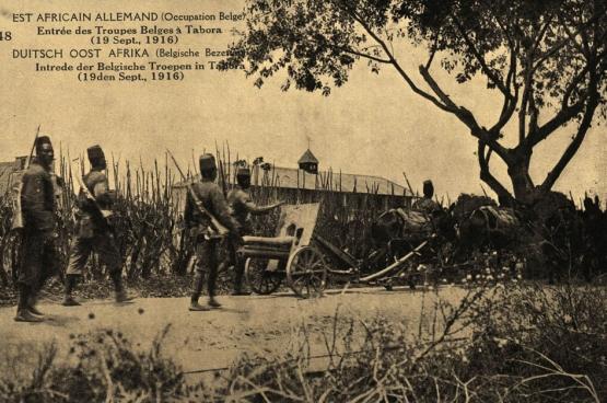"""Foto van de tentoonstelling """"De Congolezen in de Groote Oorlog: Onbekend op dit adres?"""""""