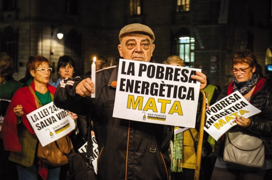 """Een bijeenkomst in Barcelona: """"Energiearmoede doodt"""". (Foto Nacho/Flickr)"""