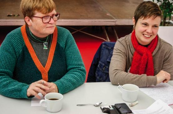 Myriam Steenhuyzen (links) en Carla Willaert (rechts). (Foto Solidair, Bruno Bauwens)