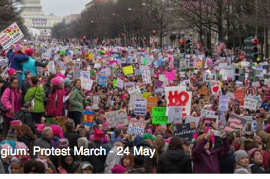 Meer dan 20.000 mensen toonden al interesse in de grote protestmars tegen het bezoek van Trump aan België