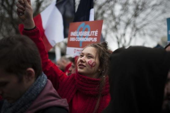 """Op 18 maar organiseerde Jean-Luc Mélenchon een """"mars voor de zesde republiek"""".(Foto Geoffrey Froment / Flickr)"""