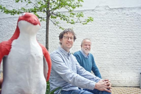 Mario Franssen en Rik Vermeersch. (Foto Solidair, Salim Hellalet)