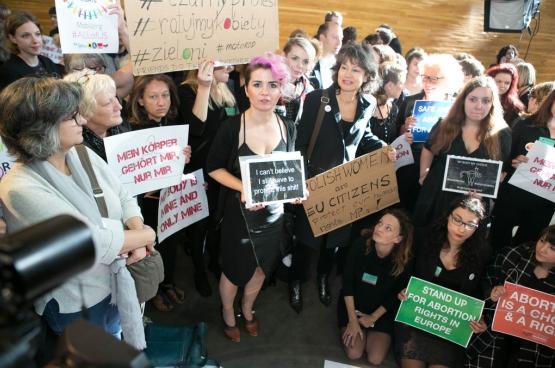 Actie van Verenigd Links voor vrouwenrechten in Polen