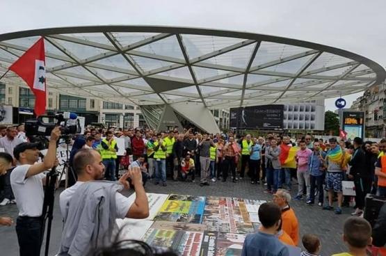 Op 24 juni was er in Brussel een solidariteitsbetoging voor de Marokkaanse beweging. (Foto Mohamed Aadel)