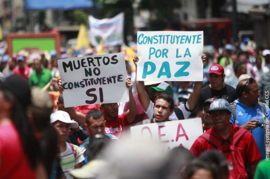 Meer dan 8 miljoen Venezolanen stemden voor een grondwetgevende vergadering en voor vrede. (Foto Ciudad CCS)
