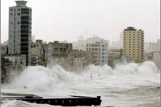 Beeld van de orkaan Wilma in 2005 in Cuba. (Foto cuatrok77 / Flickr)