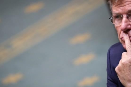 Minister Van Overtveldt in de Kamer in november (Foto Belga)