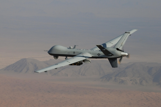 MQ-9 Reaper op patrouille.  (Foto www.afrc.af.mil Lt. Col. Leslie Pratt)