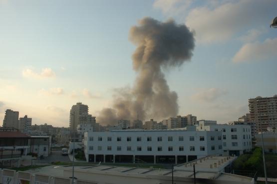 Libanon 2006, luchtaanval van het Israëlische leger. (Foto M. Asser / Flickr)