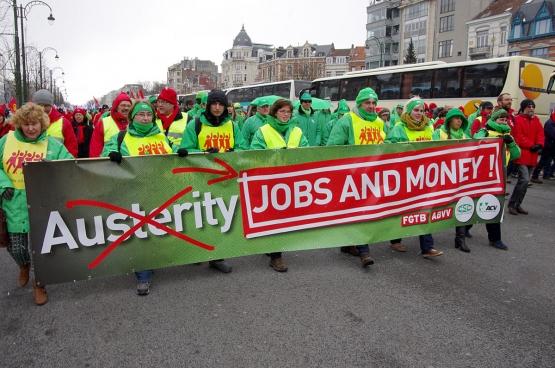 Betoging tegen het Europa van de sociale afbraak, maart 2013. (Foto Solidair, han Soete)