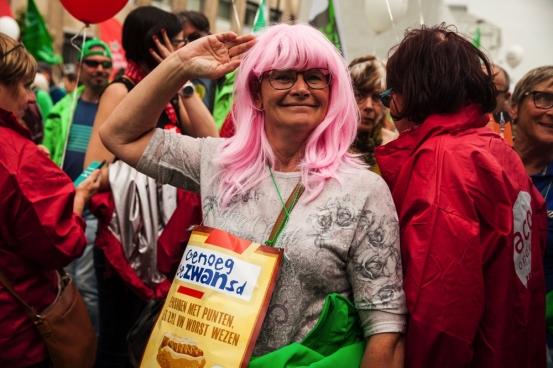 Op 16 mei stonden we met 70.000 mensen in Brussel. Twee dagen later stak de regering haar pensioen met punten in de koelkast. (Foto Solidair, Fabienne Pennewaert)