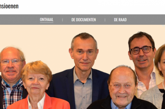 Screenshot van de website van de Academische Pensioenraad
