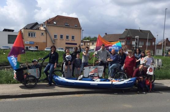 Gratis openbaar vervoer is het belangrijkste speerpunt van PVDA Leuven. (Foto PVDA Leuven)