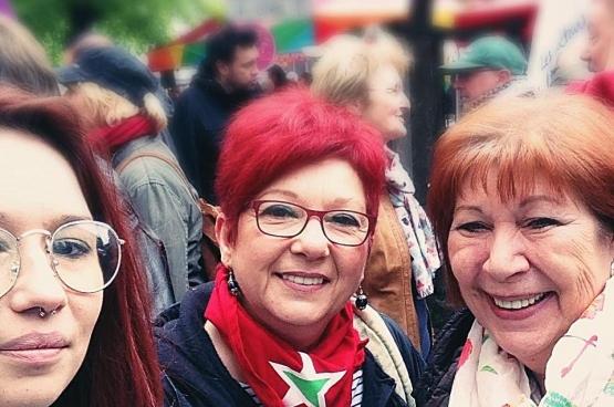 Rosa, in het midden (Foto Céline Dolçek)