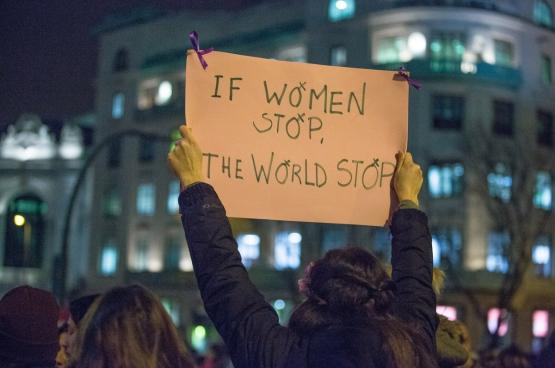 De Spaanse vrouwen schreven een nieuw hoofdstuk in de sociale geschiedenis. (Foto Izquierde Unida, Flickr)