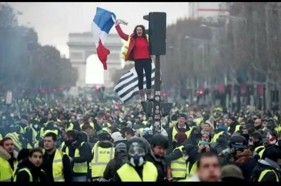 Betoging van de gele hesjes in Parijs. (Foto KRIS AUS67 / Flickr)