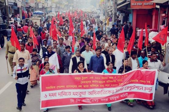 De communisten betrekken de hele bevolking van Kerala intens bij hun politiek project. (Foto CPI(M))