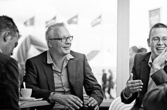PVDA-voorzitter Peter Mertens en PVDA-volksvertegenwoordiger Raoul Hedebouw. (Foto Solidair, Salim Hellalet)
