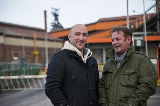 Gaby Colebunders en Frédéric Gillot. (Foto Solidair, Antonio Gomez Garcia)