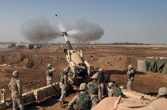 Amerikaanse marines in Irak in 2004. Straks ook te zien in Iran? (Foto Wikimedia Commons)