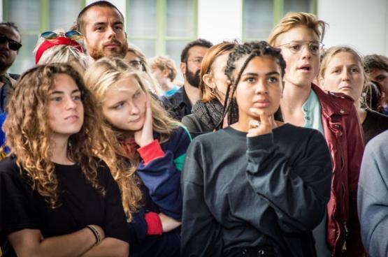 Op 6 september 2018 kwamen in Gent honderden jongeren samen tegen Schild & Vrienden. (Foto Solidair, Geertje Franssen)