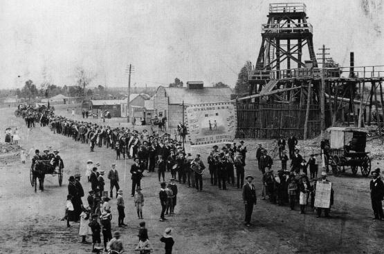 Betoging van 1890 voor de achturendag in ... Australië
