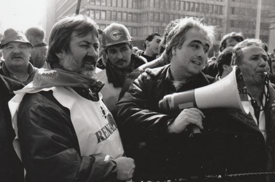 Stan tijdens de sociale strijd rond Renault Vilvoorde. (Foto, Solidair)